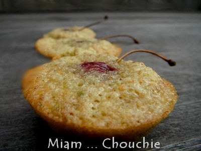 muffins pistaches noisettes et cerises
