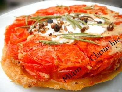 tatin de tomates cerises au cabécou
