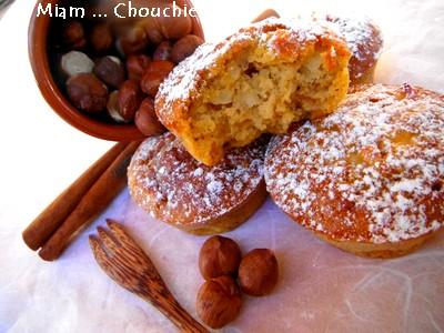 Muffins butternut , pomme et noisettes