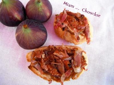 mini bruschettas figues et jambon de parme