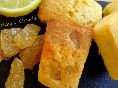 financiers citron - gingembre confit