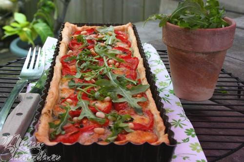 tarte-pesto-tomates-mozza