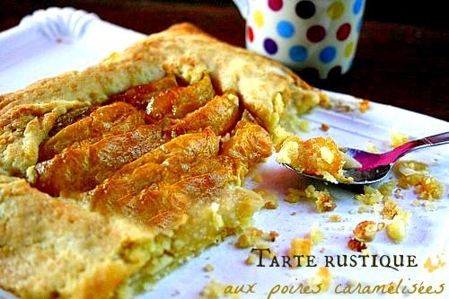 tarte-rustique-aux-poires-caramélisées
