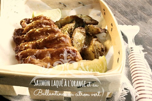 saumon-laqué-à-l'orange-et-Ballantines