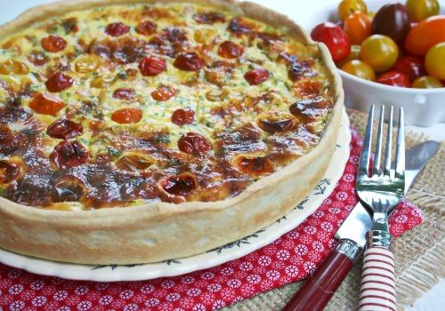 quiche-au-gorgonzola-tomates-cerises