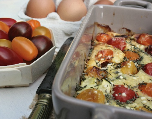 clafoutis-chèvre-tomates-cerises